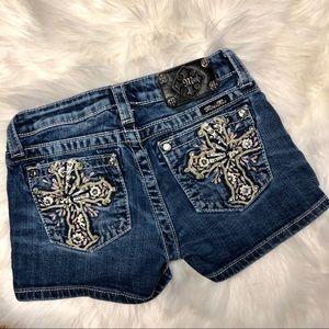 Girls Miss Me shorts